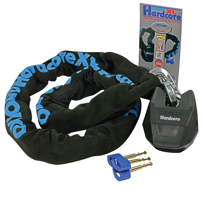 Oxford Hardcore 1.2m XL Motorbike Chain & Lock