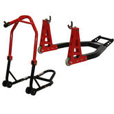 Black Pro Range Front Head Stand & Heavy Duty Aluminium Rear Paddock Stand (B5064 and B5066)