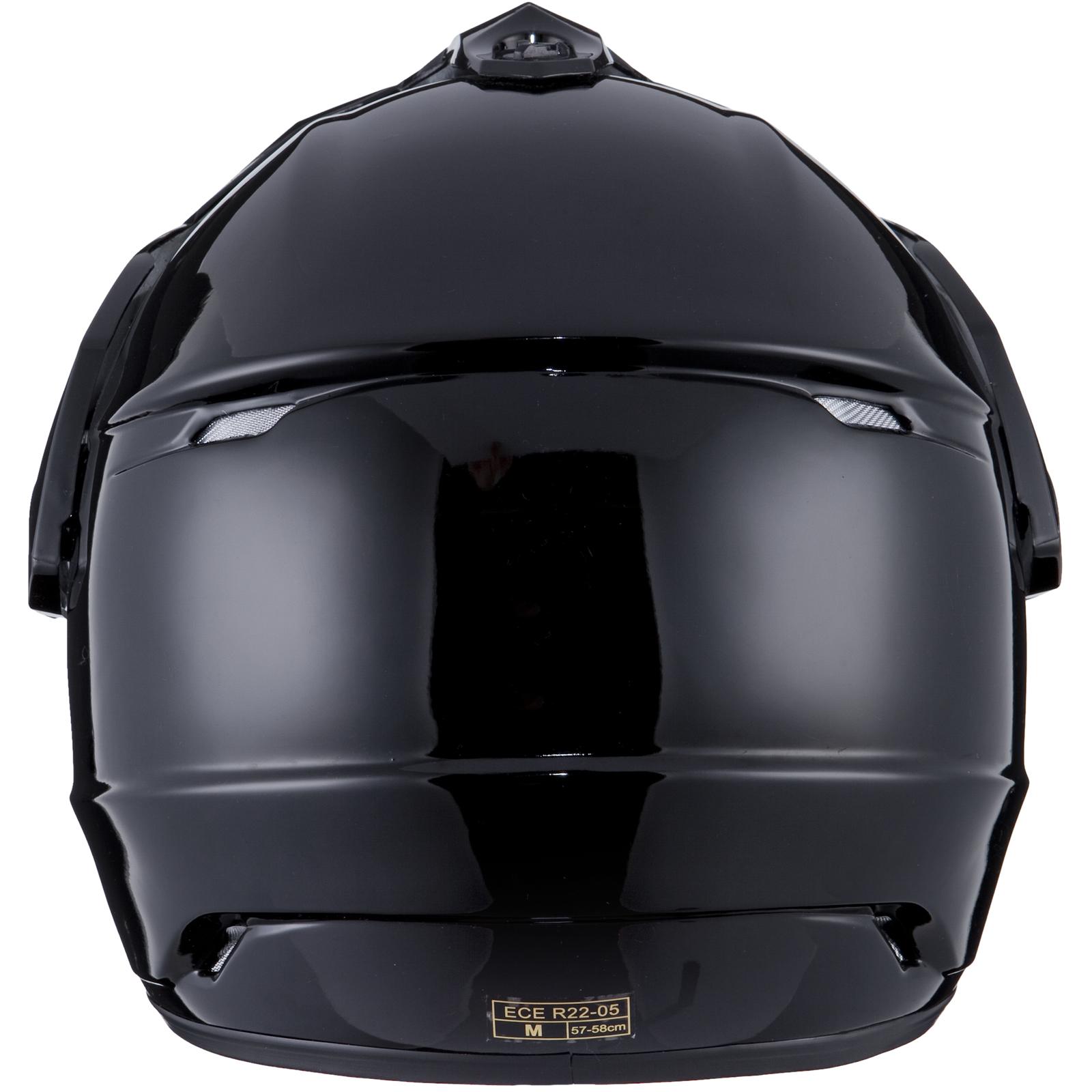 THH TX-13 Solid Plain White Dual Sport Helmet DS MX Motocross Motorcycle Quad
