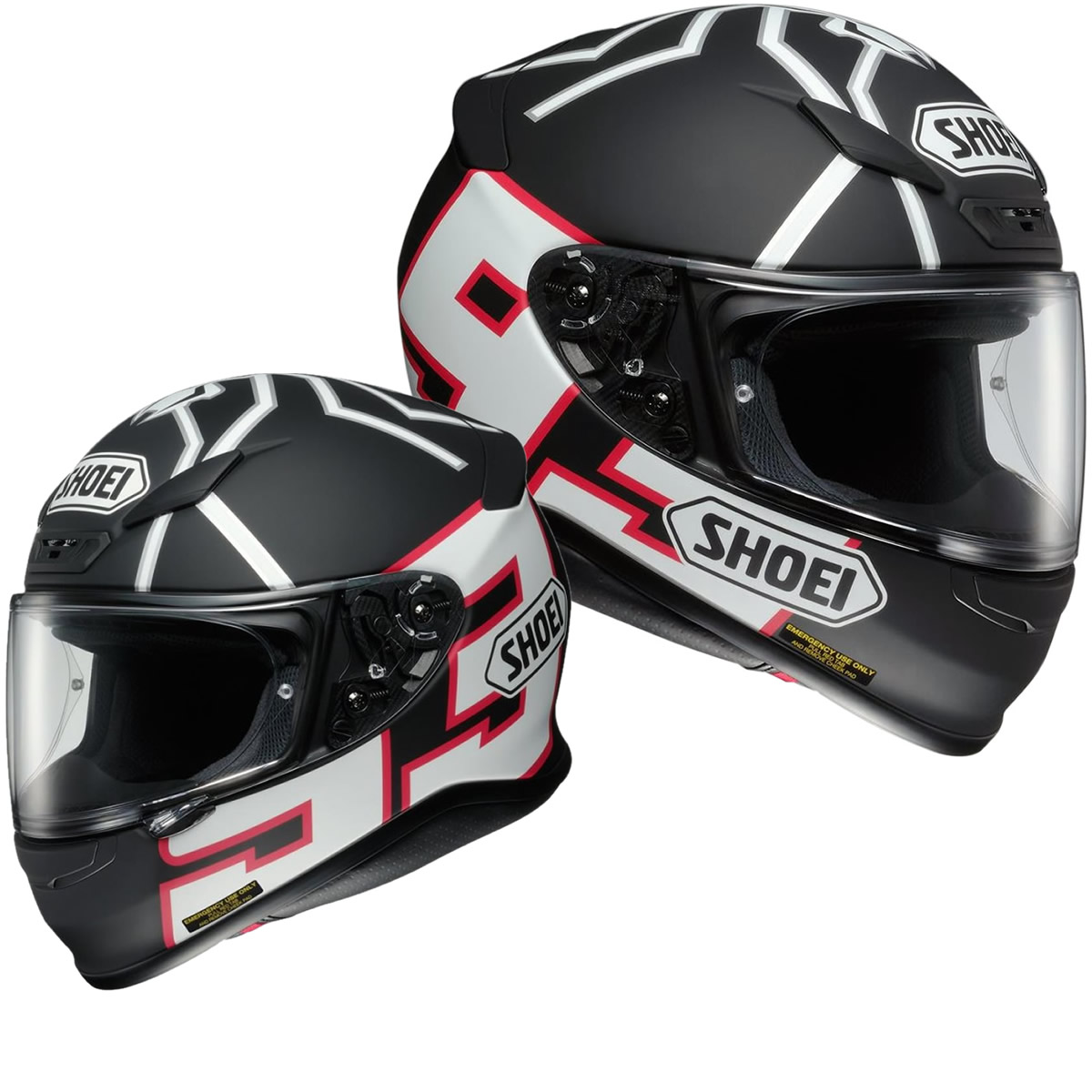 shoei nxr marquez black ant replica helmet full face helmets. Black Bedroom Furniture Sets. Home Design Ideas