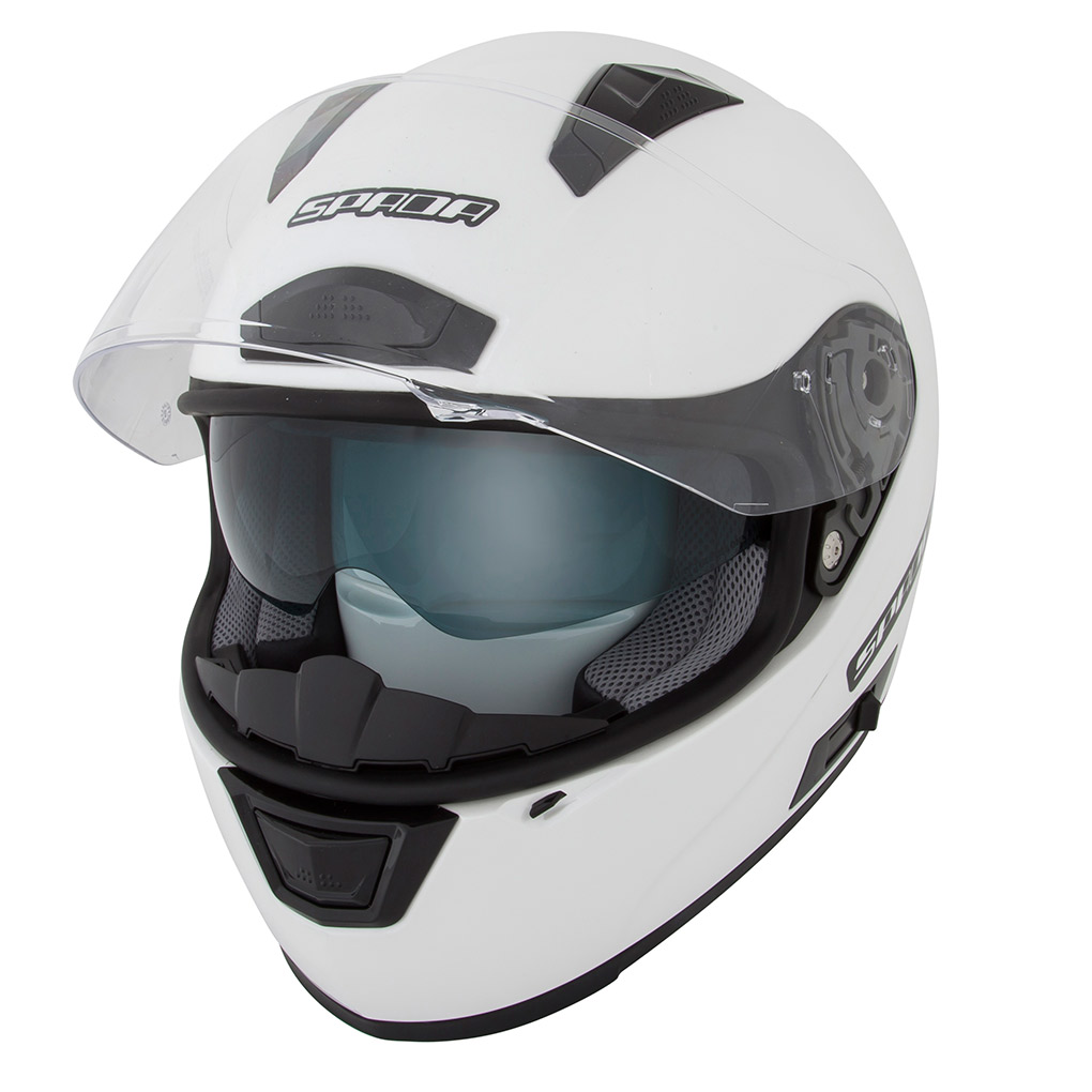 Spada Arc Plain Full Face Motorcycle Motorbike Internal Sun Visor