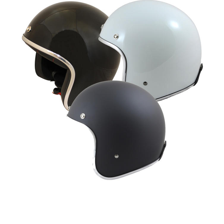 MT Le Man's Plain Open Face Motorcycle Helmet