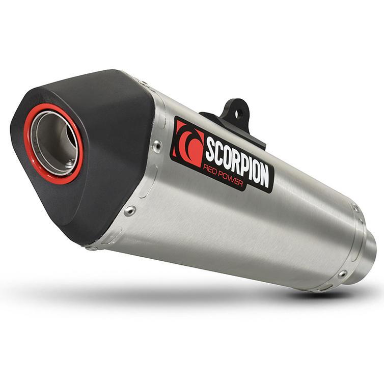Scorpion Serket Taper Stainless Oval Exhaust - Kawasaki Z1000 2014 No Panniers