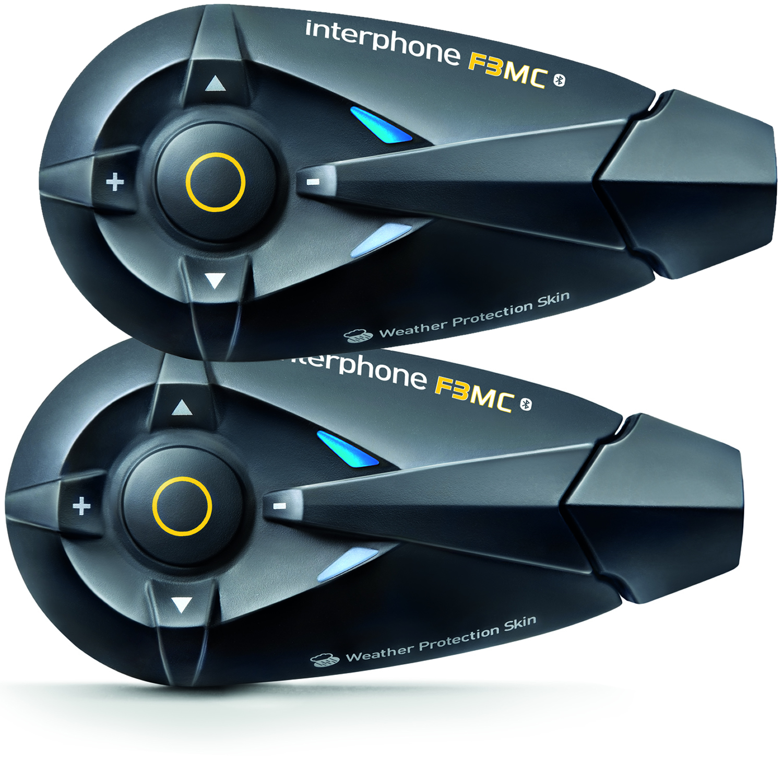 interphone f3 mc bluetooth intercom system twin pack. Black Bedroom Furniture Sets. Home Design Ideas