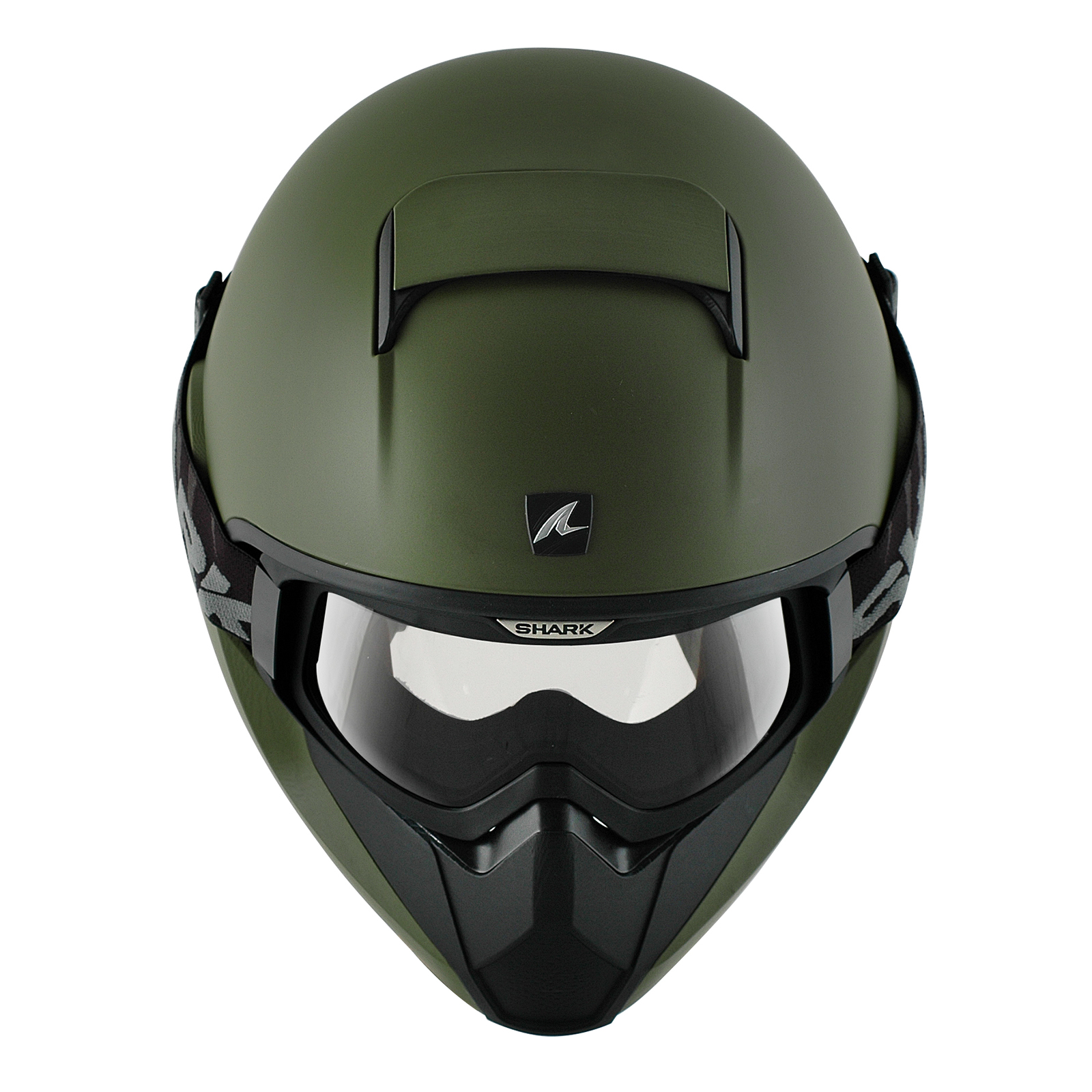 Shark vancore plain matt green motorcycle helmet army