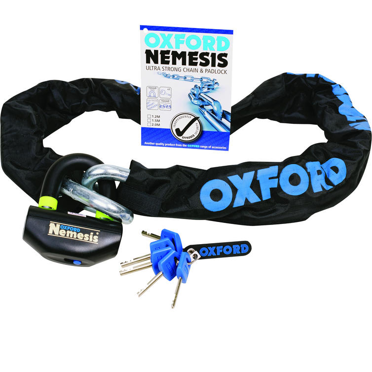 Oxford Nemesis Chain and Lock 1.2m