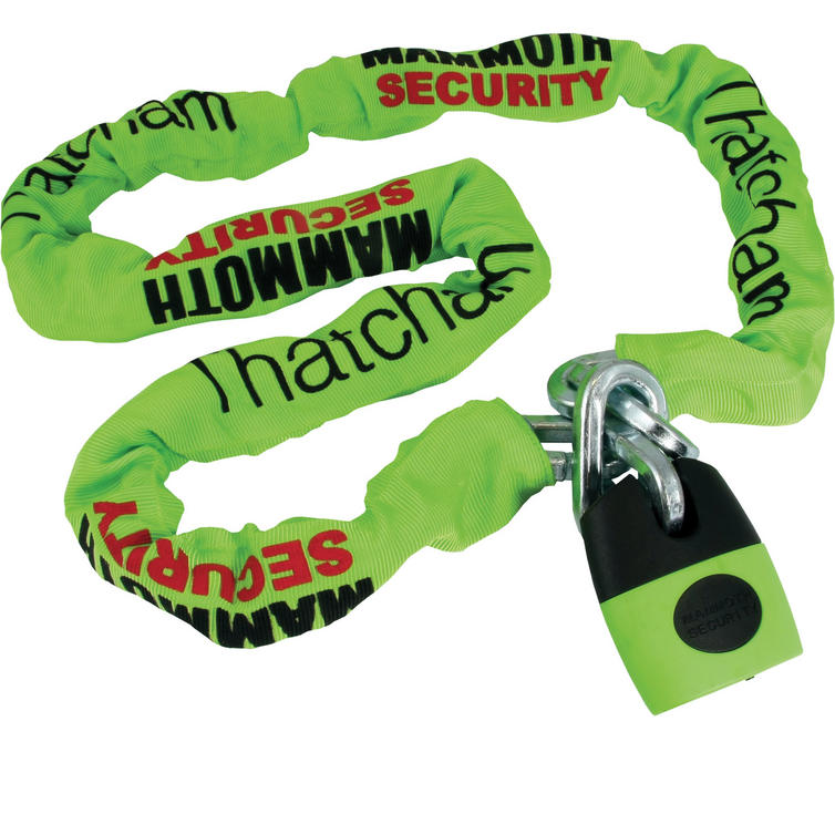Mammoth Square Chain with Shackle Lock 12mm x 1.8m (Thatcham Approved)
