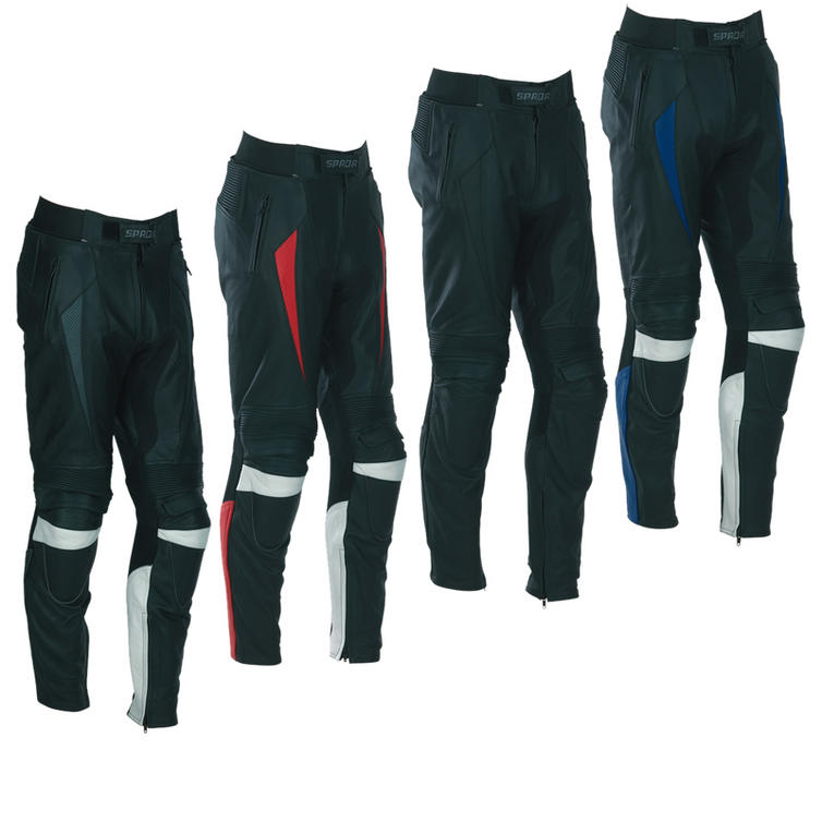 Spada Pro Tour Leather Motorcycle Trousers