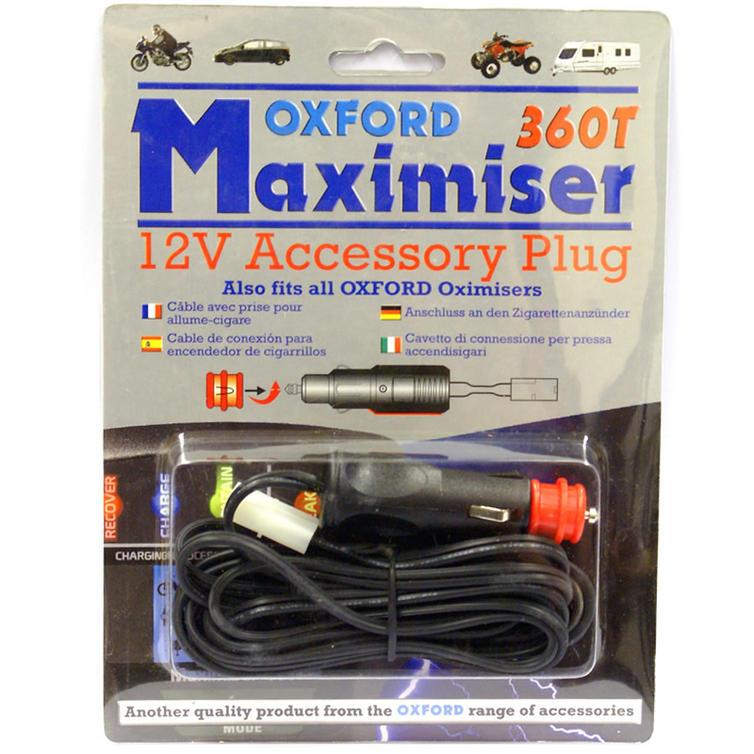 Oxford Maximiser 12v Power Adaptor