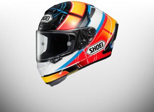 Shoei X Spirit 3 Helmets - The New 2016 Shoei Shell, built from the ground up and features an even more aerodynamic shape than its predecessor -