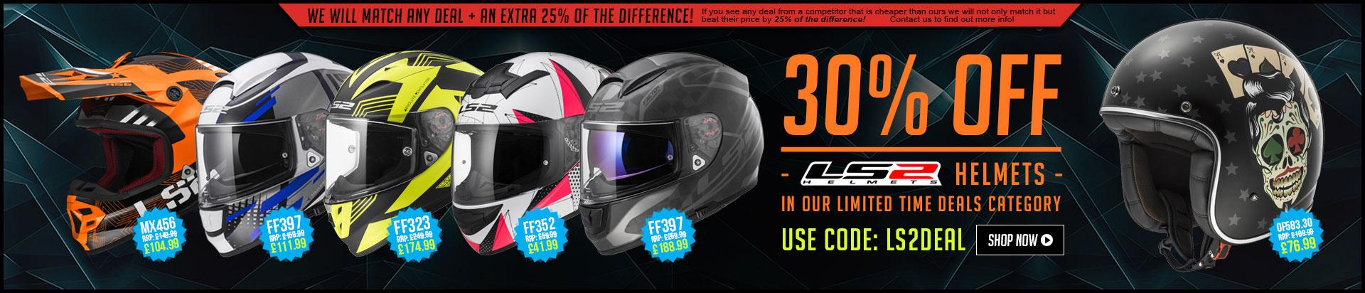 30% Off LS2 Helmets
