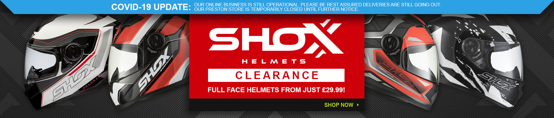 Shox Clearance Helmets