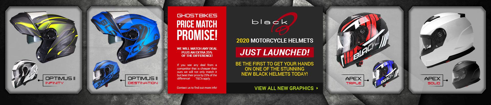 Black 2020 Helmets