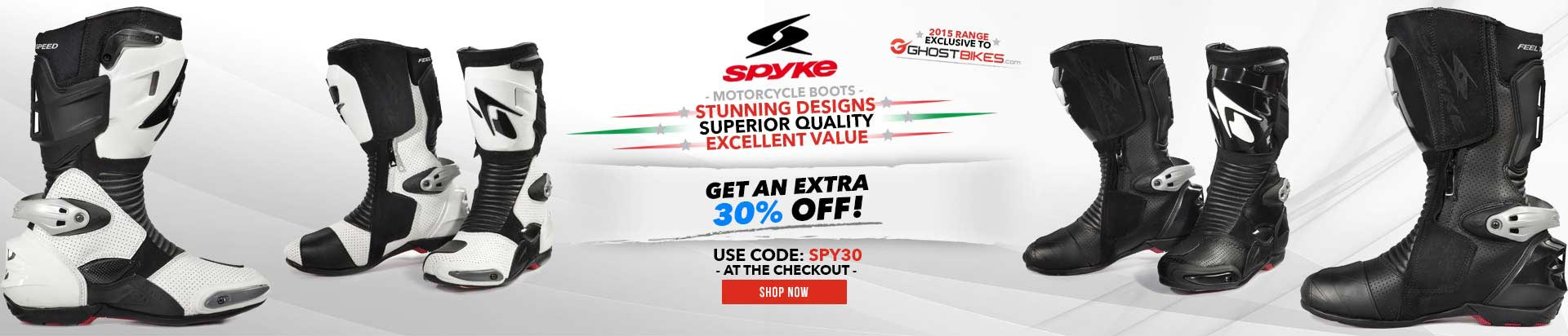 An Extra 30% OFF Spyke Boots using code SPY30