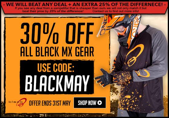 30% Off Black MX Gear