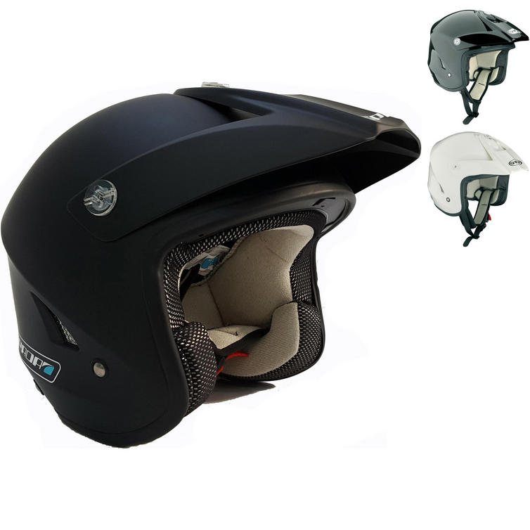Spada raze open face helmet matt blue.