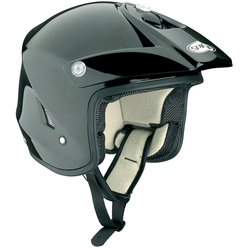 Spada-Edge-Solid-Black-Trials-Helmet-Motorcross-MX-Enduro-Off-Road-ATV-Open-Face