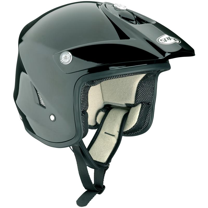 Spada-Edge-Solid-Black-Trials-Helmet-Motorcross-MX-Enduro-Off-Road-ATV-Open-Face