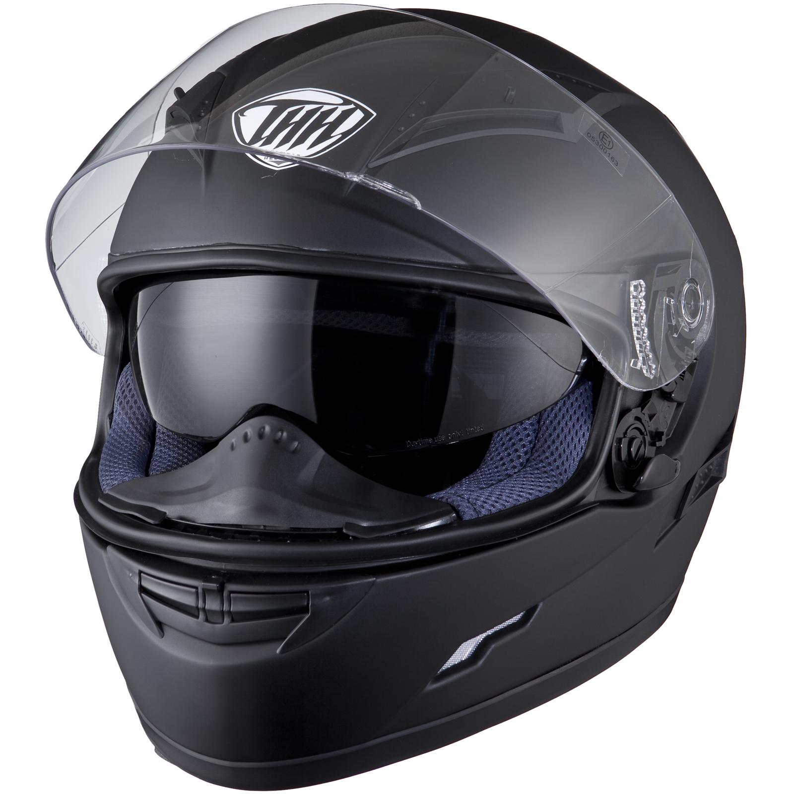 Thh Ts 80 Plain Matt Black Motorcycle Helmet Motorbike Solid Bike