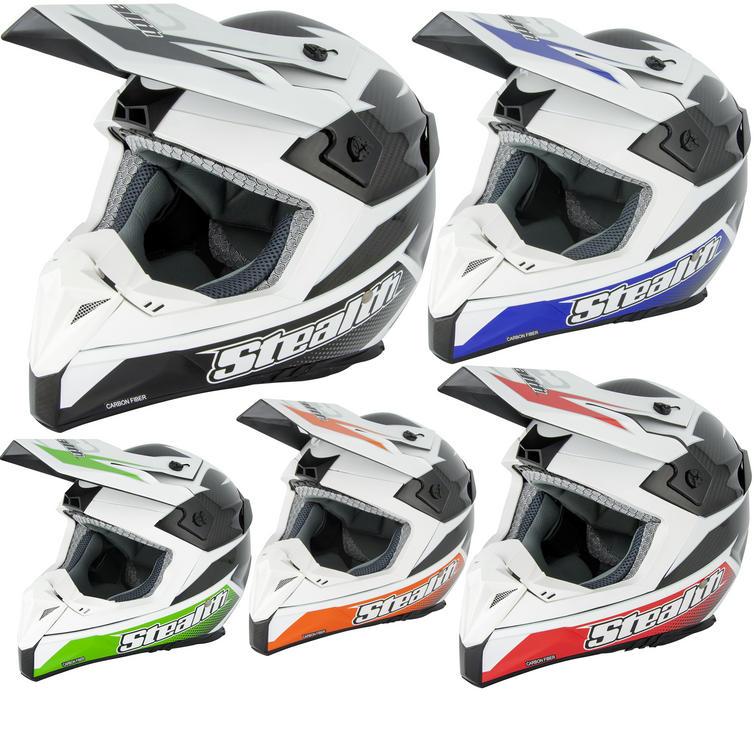 Stealth HD210 Carbon Fibre GP Replica Motocross Helmet
