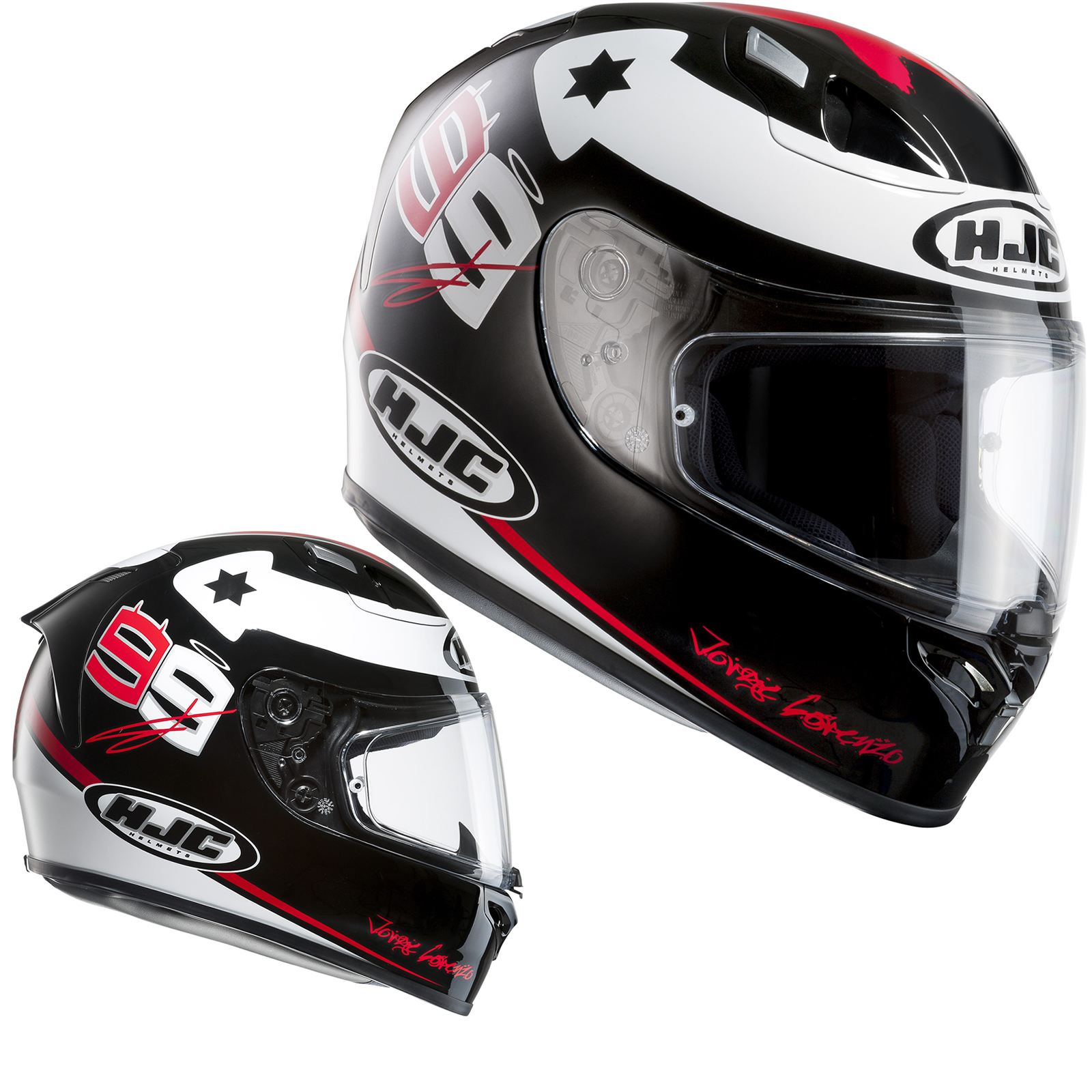 Hjc Fg 17 >> HJC FG-17 X-Fuera Lorenzo Motorcycle Helmet - Full Face Helmets - Ghostbikes.com