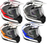 Stealth HD-009 Adventure Graphic Dual Sport Motorcycle Helmet