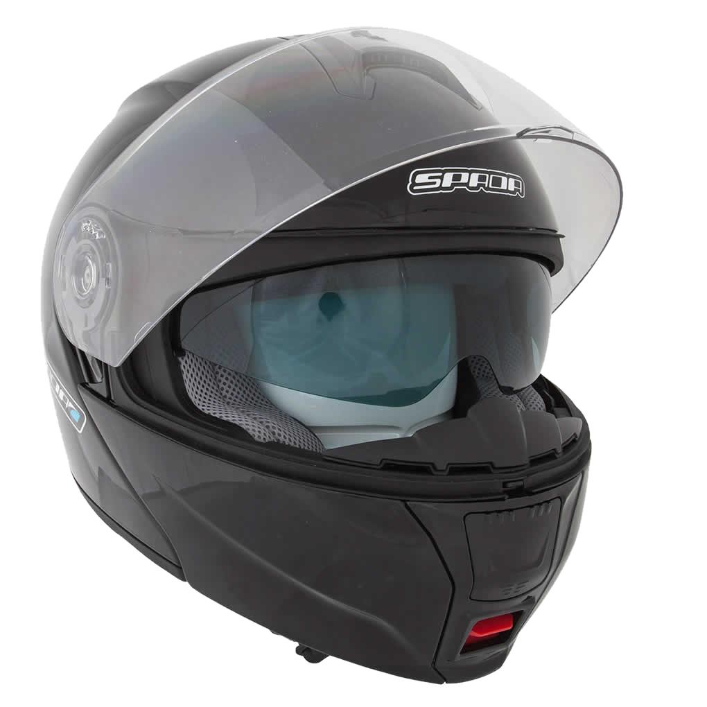 SPADA CYCLONE PLAIN FLIP FRONT MOTORCYCLE MOTORBIKE HELMET DROP DOWN ... 343f103291c