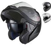 Black Optimus SV Max Vision Flip Front Motorcycle Helmet