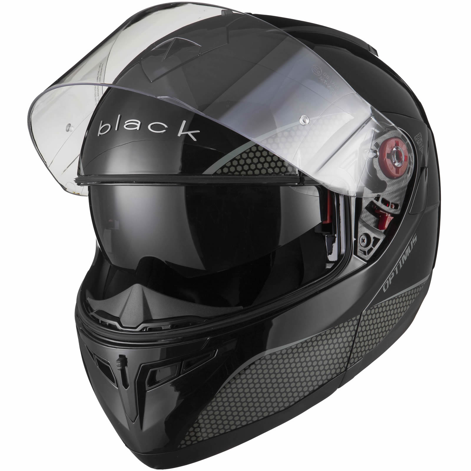Black-Optimus-SV-Max-Vision-Flip-Up-Front-Motorcycle-Helmet-Pinlock-Ready-Visor thumbnail 14