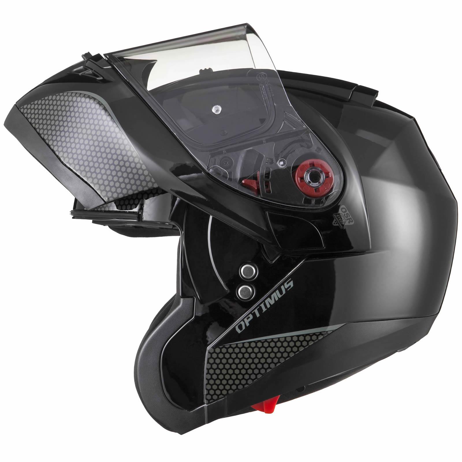 Black-Optimus-SV-Max-Vision-Flip-Up-Front-Motorcycle-Helmet-Pinlock-Ready-Visor thumbnail 15