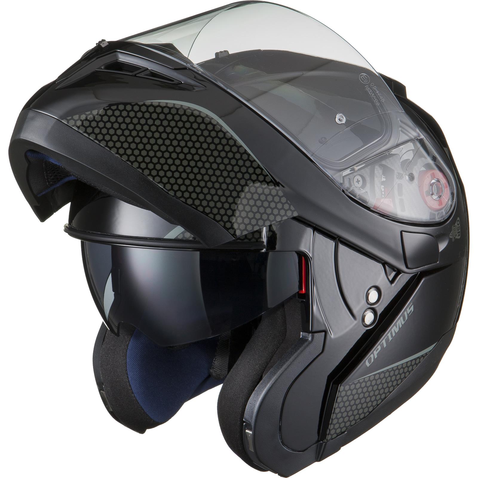 Black-Optimus-SV-Max-Vision-Flip-Up-Front-Motorcycle-Helmet-Pinlock-Ready-Visor thumbnail 18