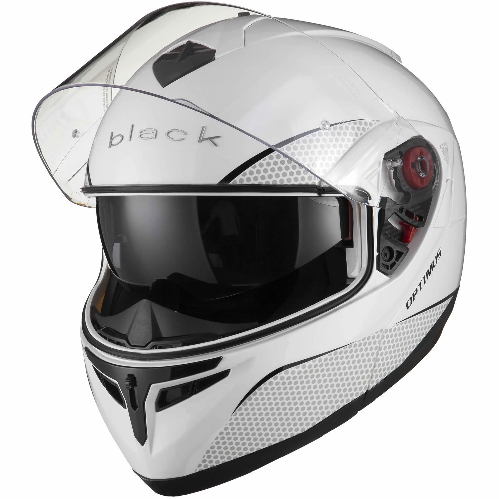 Black-Optimus-SV-Max-Vision-Flip-Up-Front-Motorcycle-Helmet-Pinlock-Ready-Visor thumbnail 26