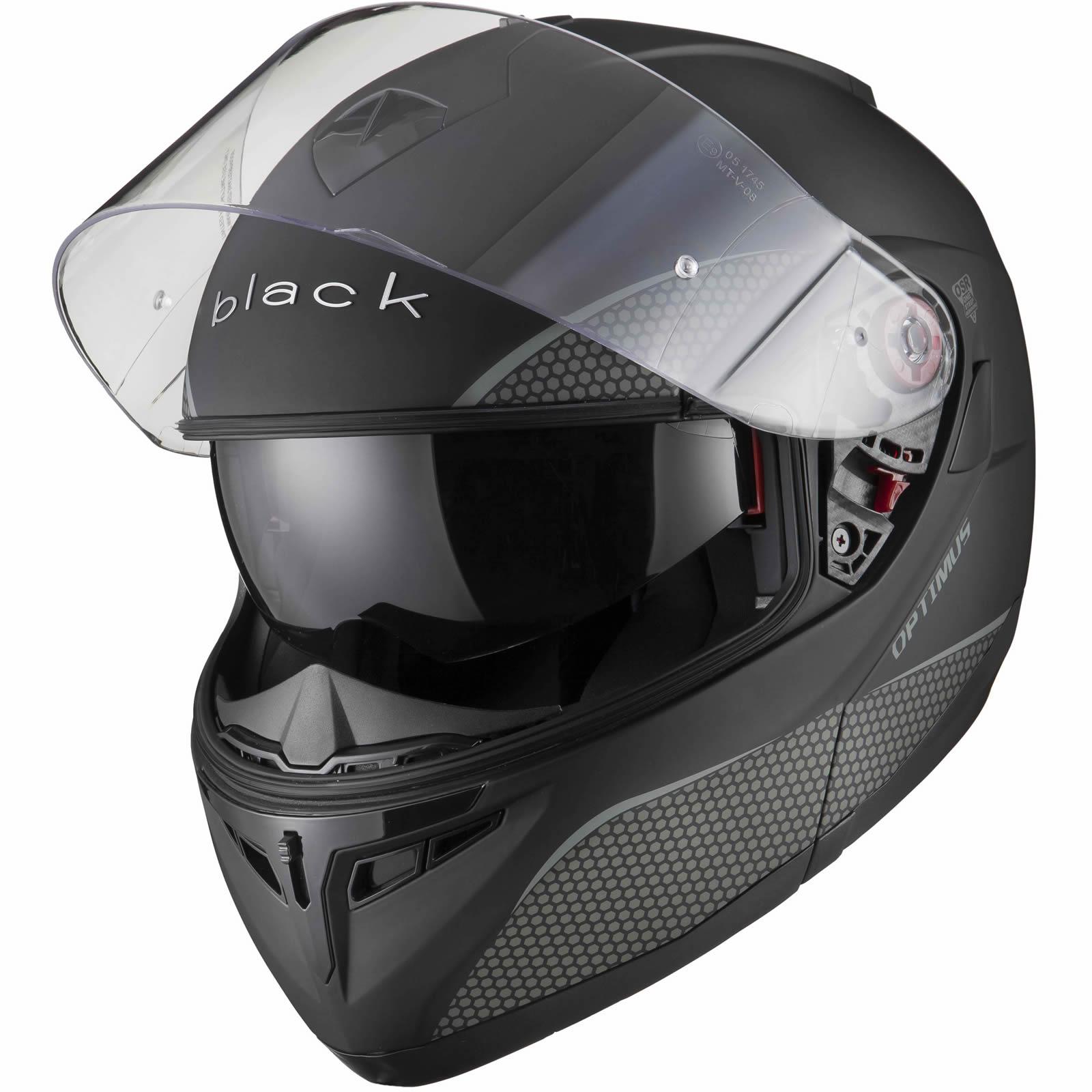 Black-Optimus-SV-Max-Vision-Flip-Up-Front-Motorcycle-Helmet-Pinlock-Ready-Visor thumbnail 20