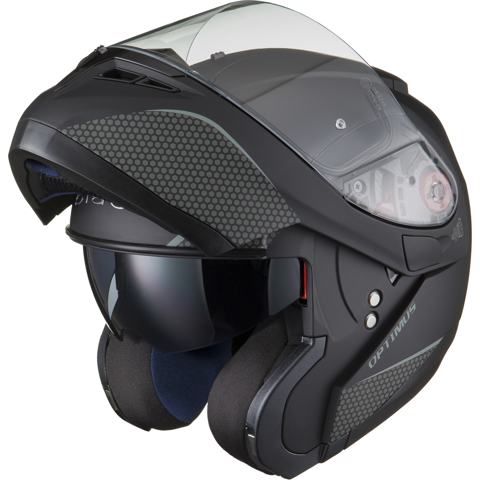 Black-Optimus-SV-Max-Vision-Flip-Up-Front-Motorcycle-Helmet-Pinlock-Ready-Visor thumbnail 24