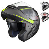 Black Optimus SV Tour Max Vision Flip Front Motorcycle Helmet