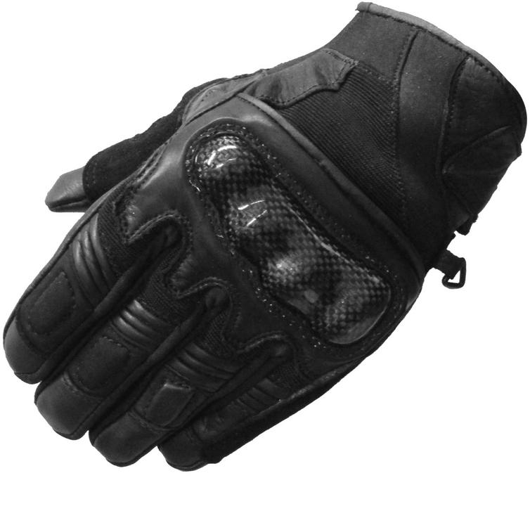 Black City Leather Motorcycle Gloves