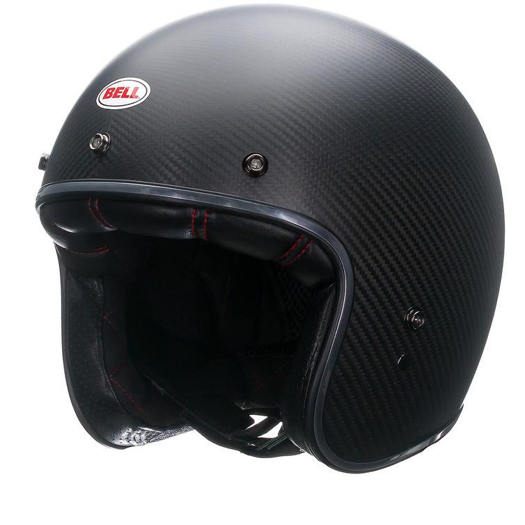 Bell Custom 500 Carbon Matte Deluxe Motorcycle Helmet