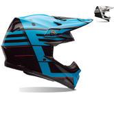 Bell Moto-9 Carbon Flex Blocked Motocross Helmet