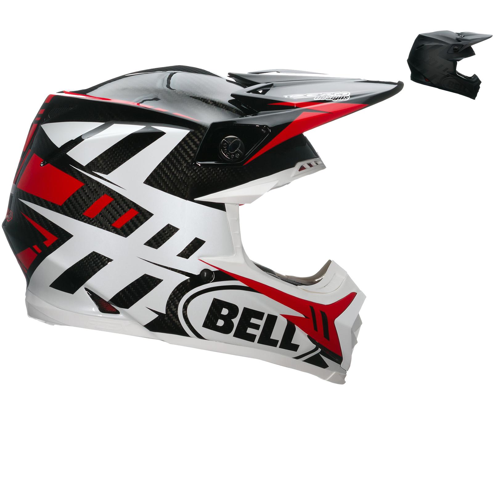 bell moto 9 carbon flex syndrome motocross helmet. Black Bedroom Furniture Sets. Home Design Ideas