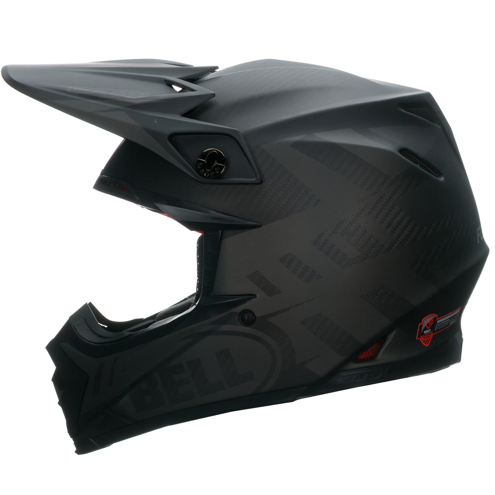 022a1e61 Bell Moto-9 Carbon Flex Syndrome Matt Black MX Cross Quad Motocross ...