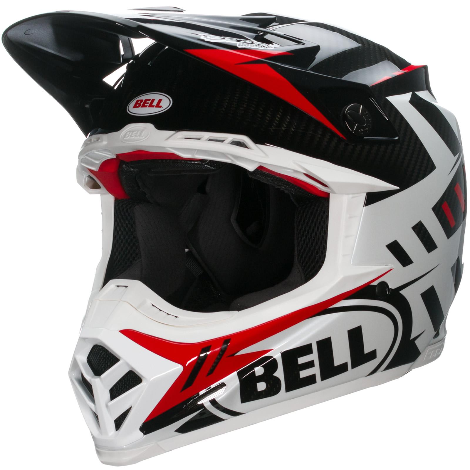 bell moto 9 carbon flex syndrome red motocross enduro racing quad mx protection ebay. Black Bedroom Furniture Sets. Home Design Ideas
