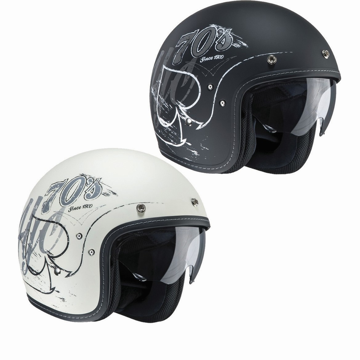 hjc fg 70s rockers open face motorcycle helmet open face helmets. Black Bedroom Furniture Sets. Home Design Ideas
