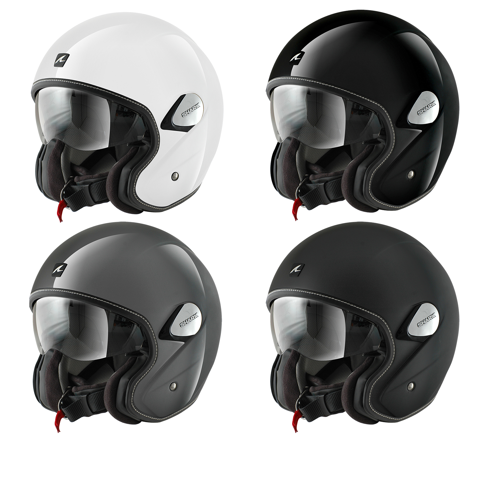 Shark Heritage Blank Open Face Motorcycle Helmet Open Face Helmets
