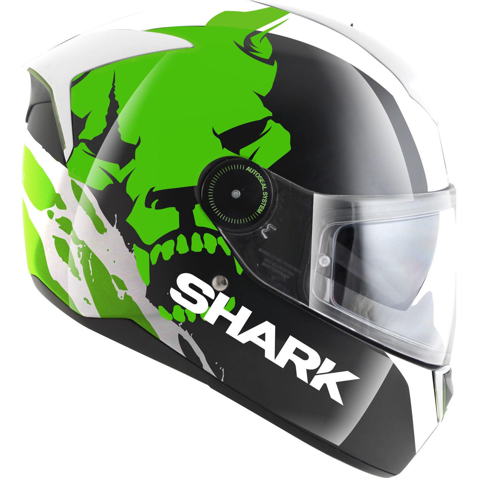 shark skwal instinct led light hi viz sun visor race motorcycle motorbike helmet ebay. Black Bedroom Furniture Sets. Home Design Ideas