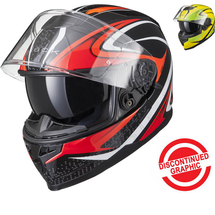 Black Titan SV Charge Motorcycle Helmet