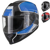 Black Titan Track Motorcycle Helmet