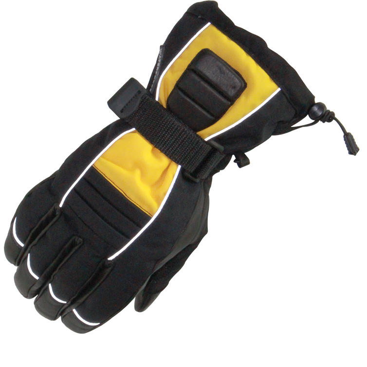 Sports Comm Yellow Waterproof Motorcycle Gloves