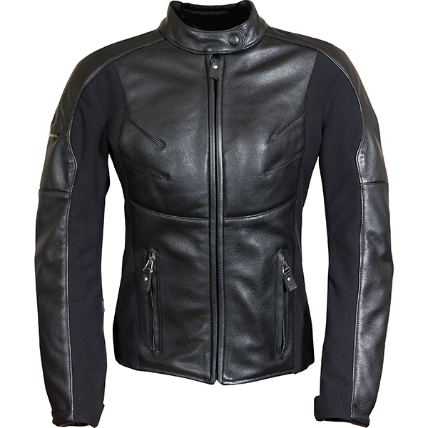 Richa-Kelly-Ladies-Leather-Motorcycle-Jacket-Black-Touring-Womens-CE-Armoured