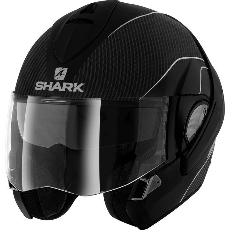 shark evoline pro carbon flip front motorcycle helmet flip front helmets. Black Bedroom Furniture Sets. Home Design Ideas