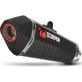 Scorpion Serket Taper Carbon Oval Exhaust - Kawasaki Z1000 SX 2014 - 2018 With Panniers
